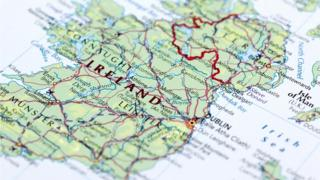 A map of Northern Ireland