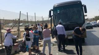 الانفجار استهدف حافلة سياحية