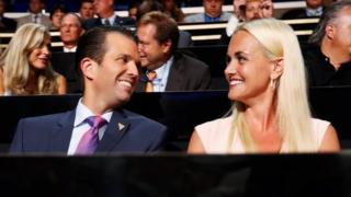 Donald Trump Jr and his wife Vanessa Trump. Photo: July 2016