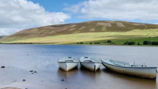 Boats at Threipmuir Reservoir