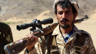 Yemen'de Suudi koalisyonu destekleyen bir milis