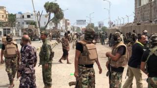 Des forces de sécurité yéménites à Aden en novembre 2017 (illustration).