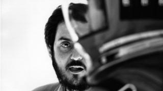 """Стэнли Кубрик на съемках фильма """"Космическая Одиссея 2001 года"""""""