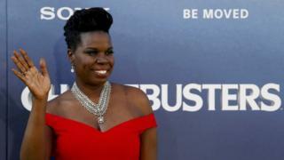 Leslie Jones at the premiere of Ghostbusters on July 9, 2016