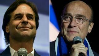 Luis Lacalle Pou y Daniel Martínez