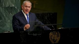 آقای نتانیاهو ساعتی بعد از سخنرانی دونالد ترامپ در مجمع سازمان ملل متحد سخنرانی کرد