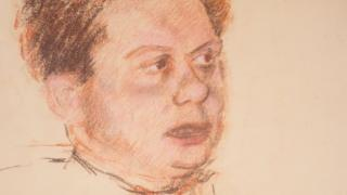 The last known sketch of Dylan Thomas