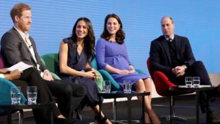 in_pictures The couple take part in their first joint engagement with the Duke and Duchess of Cambridge at a Royal Foundation forum. Meghan shows her support for the £MeToo and Time's Up Campaigns during an on-stage Q&A.