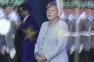 Chancellor Angela Merkel at the chancellery in Berlin on 27 June