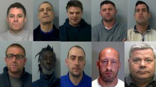 The men convicted