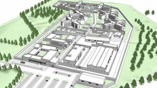 Artist's impression of plans for Full Sutton new prison