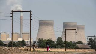La centrale à charbon de Kendal à Witbank en Afrique du Sud.