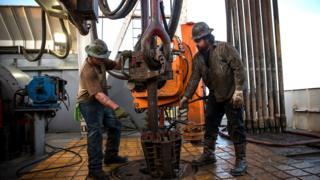 Trabajadores petroleros en Estados Unidos