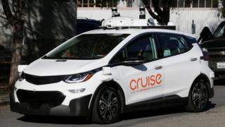 GM Cruise self-driving car