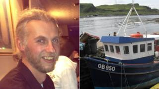 Scott MacAlister and boat