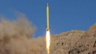 موشک شلیک شده ایران