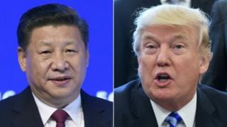 ประธานาธิบดีสี จิ้นผิง ของจีน และประธานาธิบดีโดนัลด์ ทรัมป์ ของสหรัฐฯ