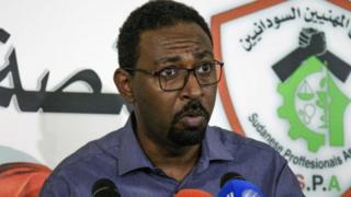 Amjad Farid, un porte-parole de l'Association des professionnels du Soudan, le mouvement à la pointe des manifestations antigouvernementales au Soudan.