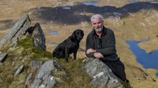 in_pictures David Houston and his dog Gill