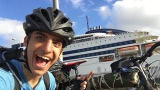Kleon Papadimitriou cycles to Greece