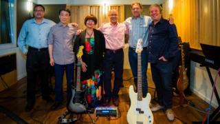 The ambassadors in the studio