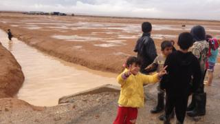 Syrian children in Zaatari camp