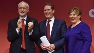 Jeremy Corbyn, Sir Keir Starmer, Emily Thornberry