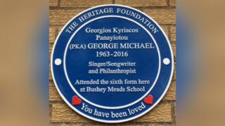 Plaque to George Michael