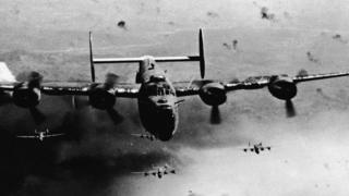 Бомбардировщик B-24 над Румынией