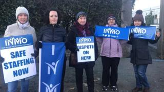 Nurses on strike