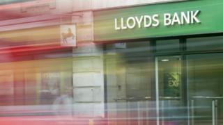 Lloyds Bank in a high street