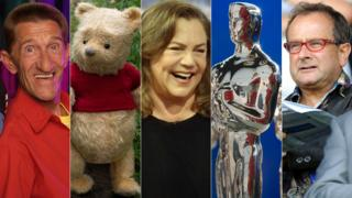 Barry Chuckle, Winnie the Pooh, Kathleen Turner, Oscars statuette and Timmy Mallett
