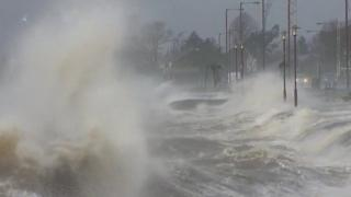 Storm batters coast