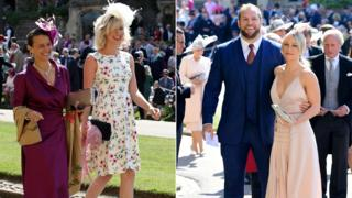 Singer Joss Stone in a floral dress and rugby player James Haskel arrived with his fiancee Chloe Madeley