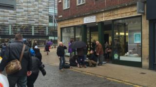 Accident outside shop in Norwich