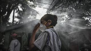 В январе 2018 года началось извержение вулкана Майон на Филиппинах, и местным жителям понадобились респираторы