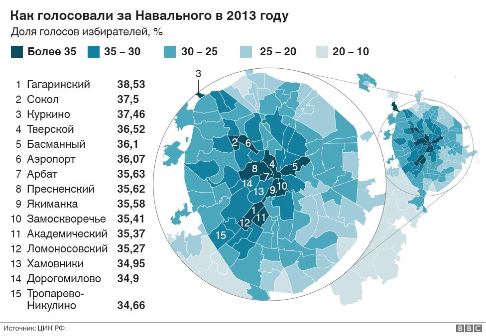Как голосовали за Навального