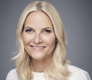 A headshot of Norway's Crown Princess Mette-Marit