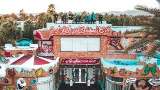 Spray painted Las Vegas mansion