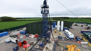 Drilling rig at the Preston New Road site