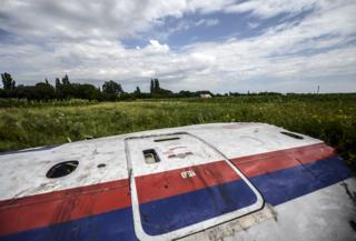 Wreckage from MH17