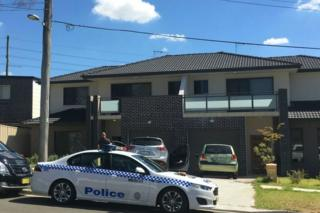 A house in the Sydney suburb of Merrylands which was raided by police