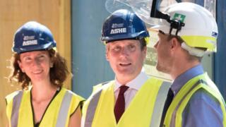 Shadow chancellor Anneliese Dodds with Labour leader Sir Keir Starmer during a visit to a regeneration project in Stevenage