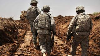 Solados estadounidenses en Irak.
