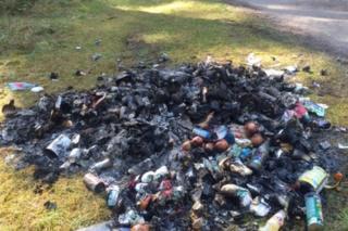 Rubbish left at Roseisle