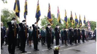 Hundreds gathered to remember the victims of the Ballygawley bus bombing