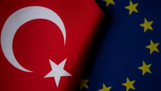 Türkiye ve AB bayrakları