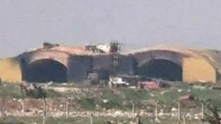 База Шайрат после обстрела