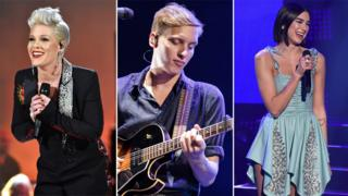 Pink, George Ezra and Dua Lipa