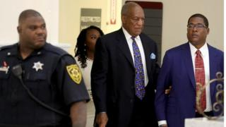 Entertainer Bill Cosby arrives for sentencing at court in Pennsylvania on a sex assault conviction, 24 September 2018
